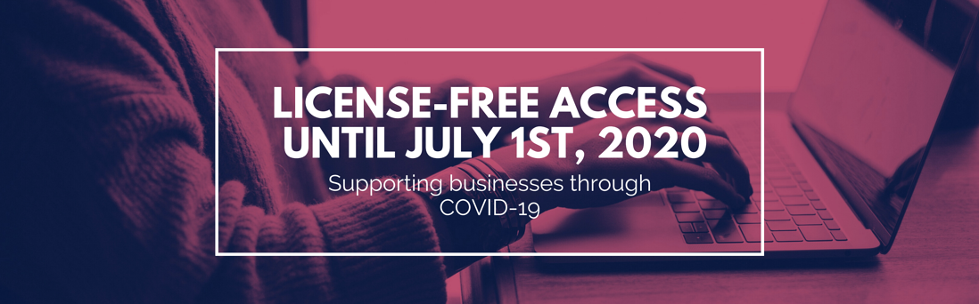 License Free Access Until July 1st, 2020